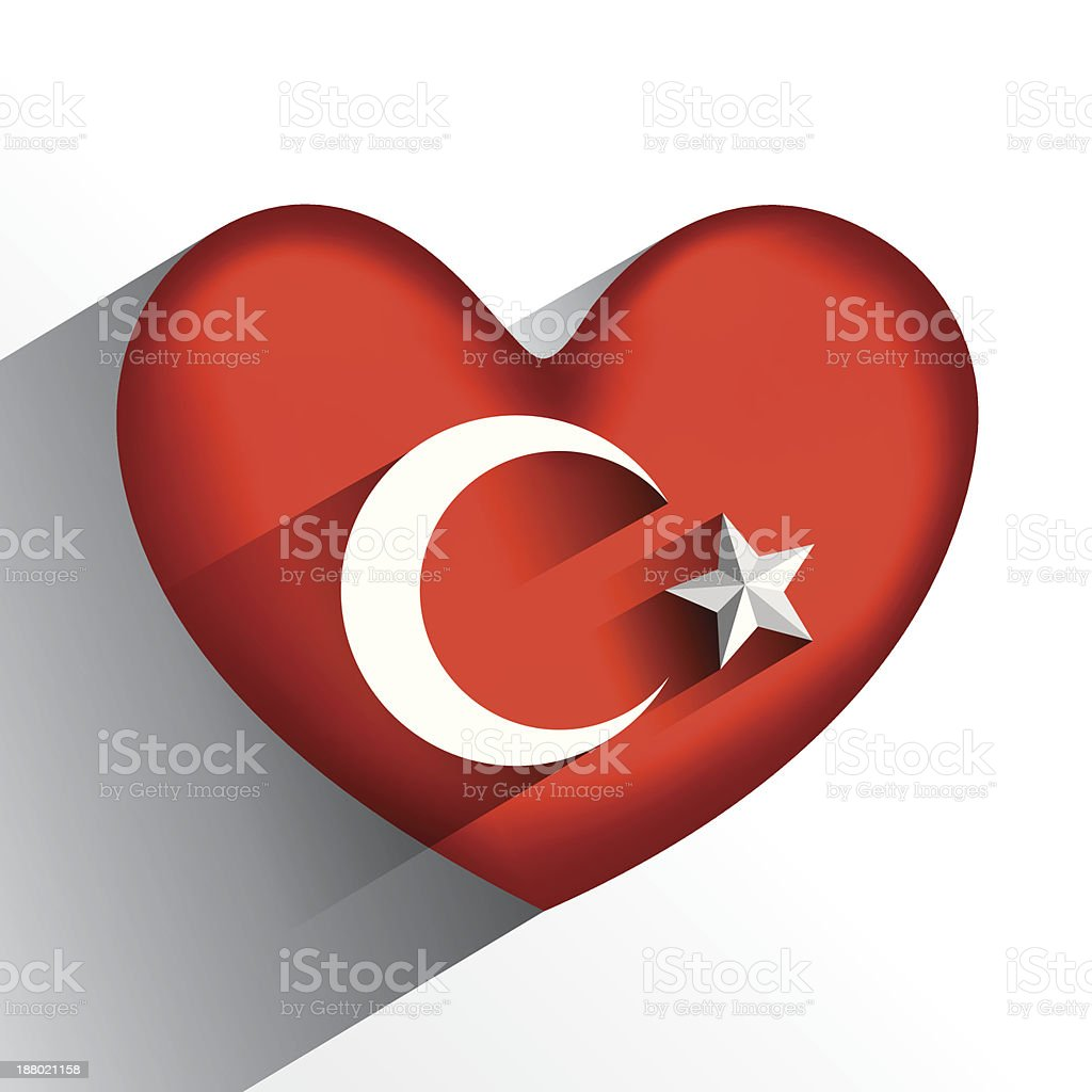 Creative Abstract Turkish Heart Flag royalty-free creative abstract turkish heart flag stock vector art & more images of ankara