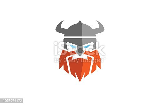 istock Creative Abstract Viking Head Logo 1097074172
