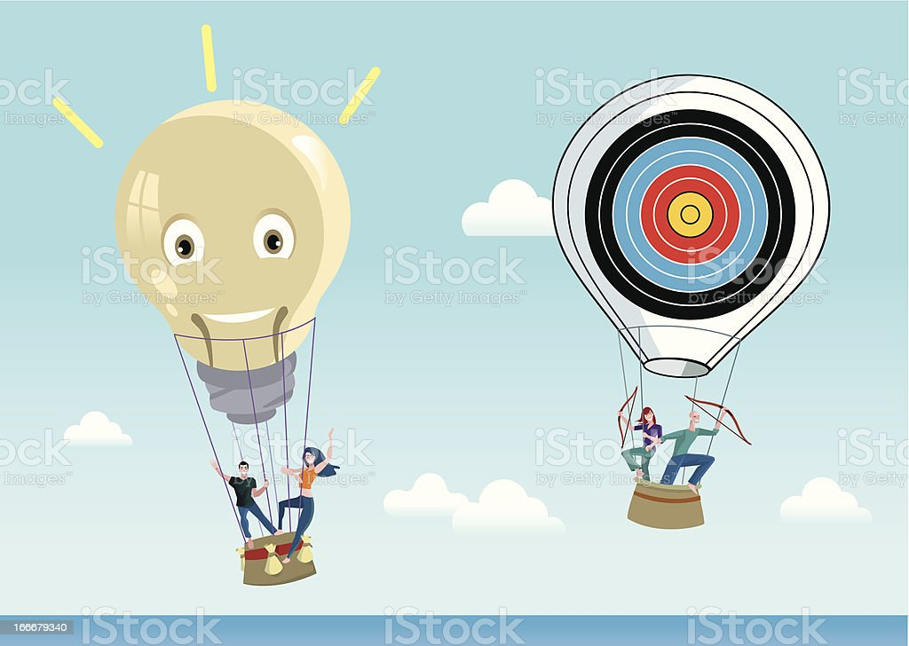 Creative Air Balloons royalty-free stock vector art