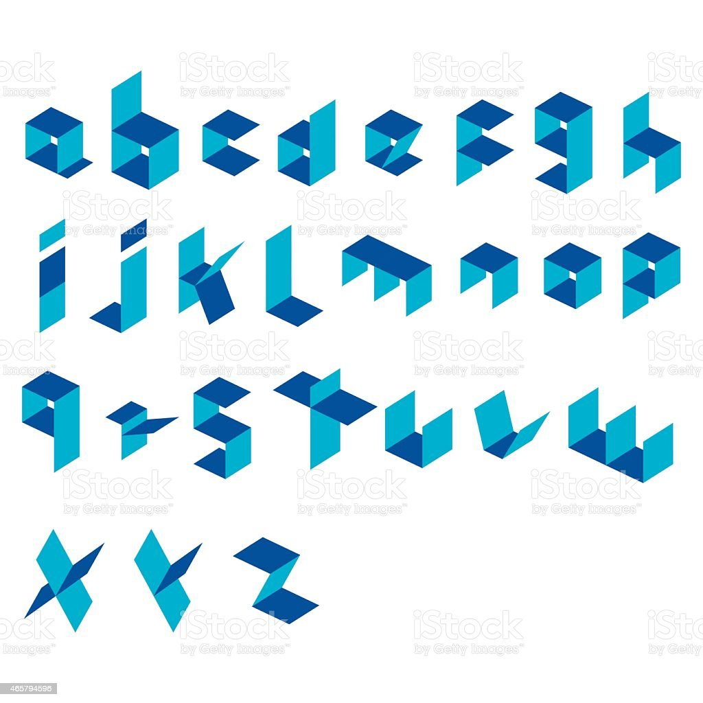 creative alphabet design vector vector art illustration