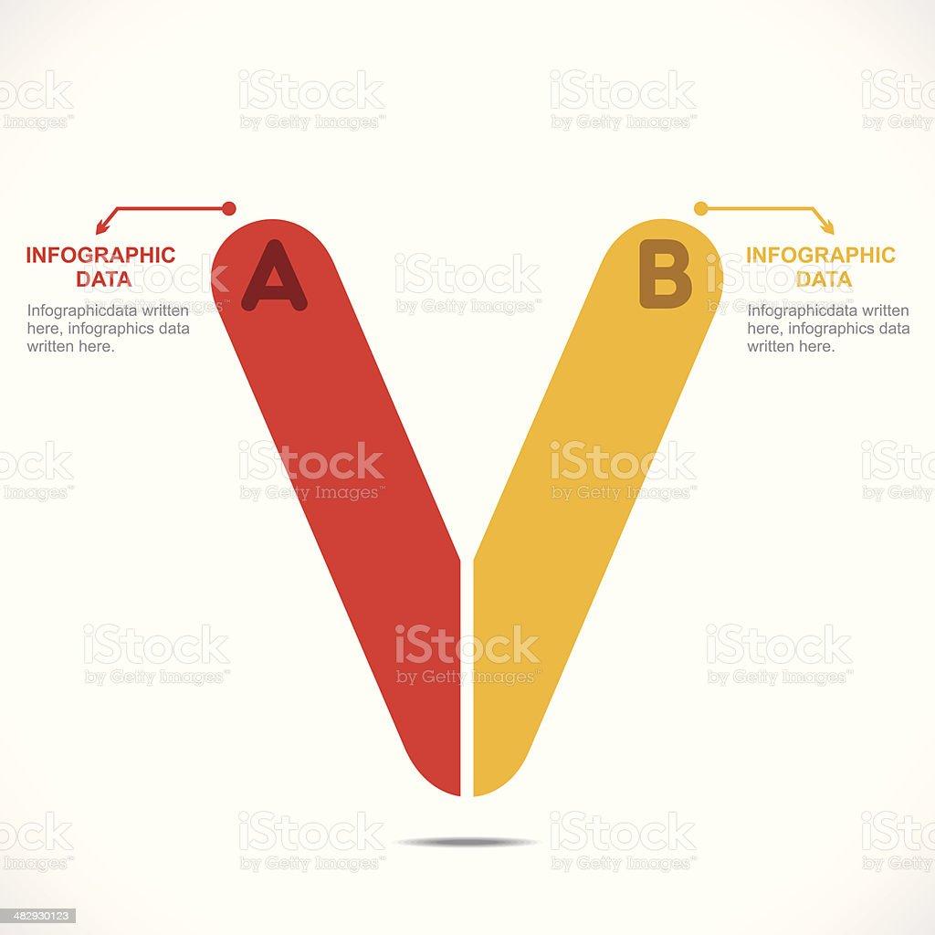 creative alphabet info-graphics vector art illustration