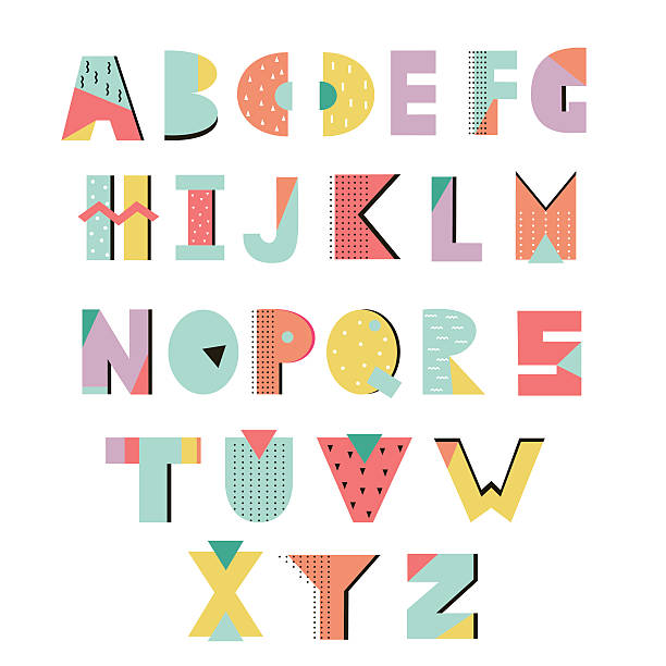 Creative alphabet – Vektorgrafik