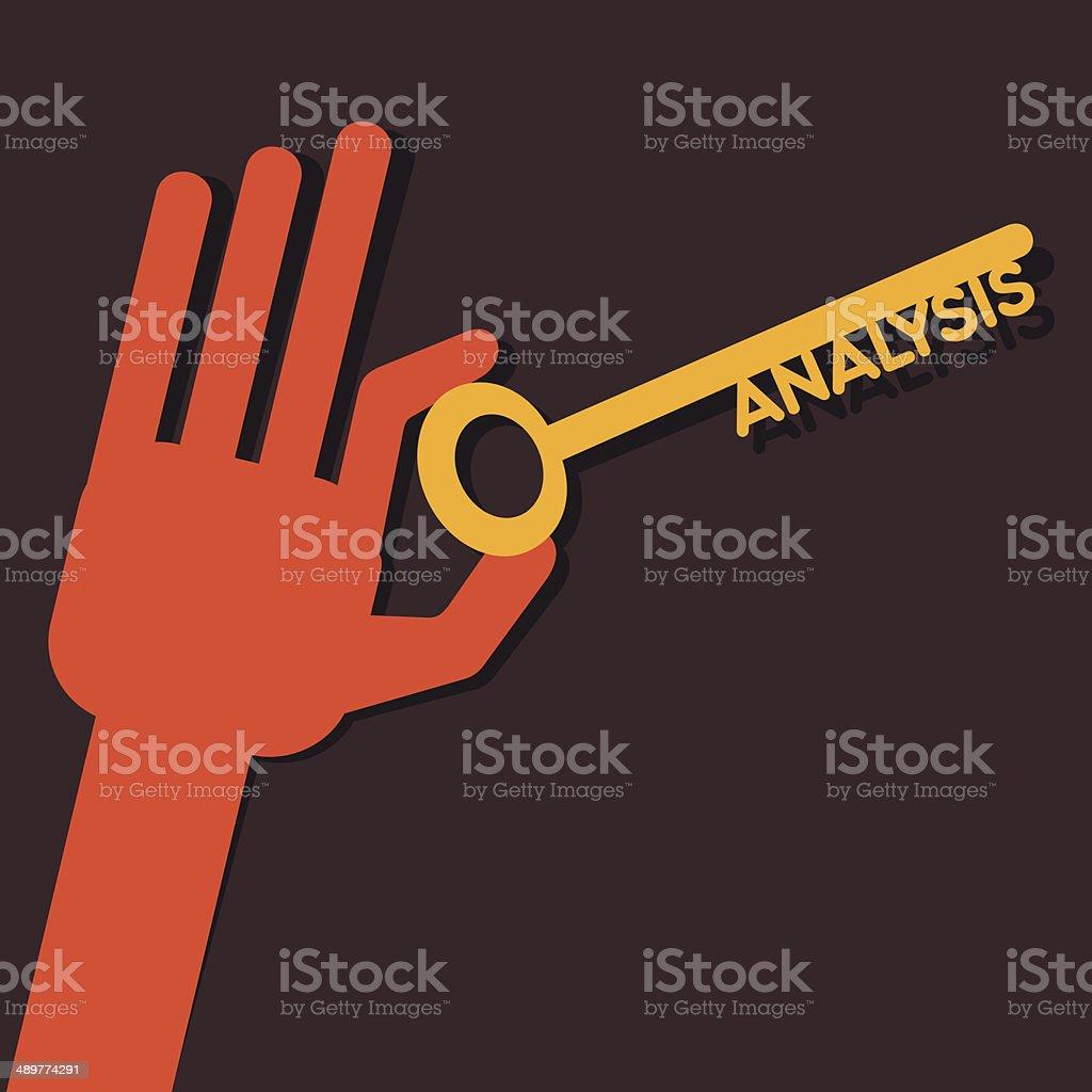 creative analysis word vector art illustration