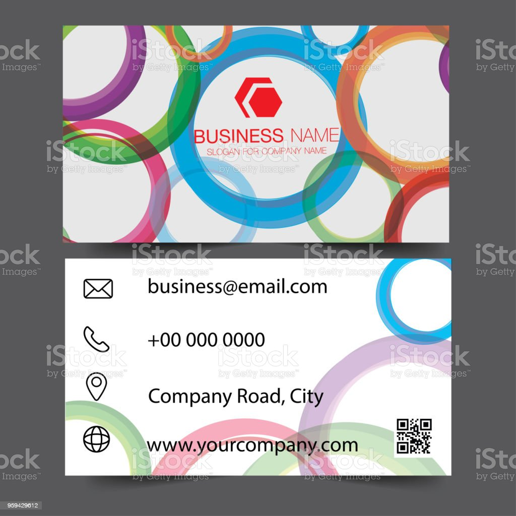 Creative and clean doublesided blue business card template gold creative and clean double sided blue business card template gold colors flat design colourmoves