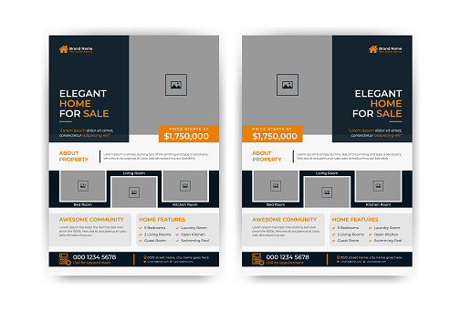 Creative and clean real estate flyer for real estate and property business