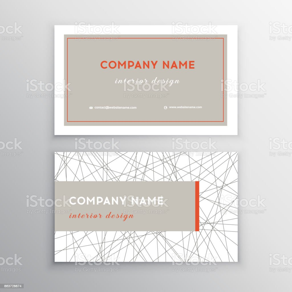 Creative And Clean Vector Business Card Template Business