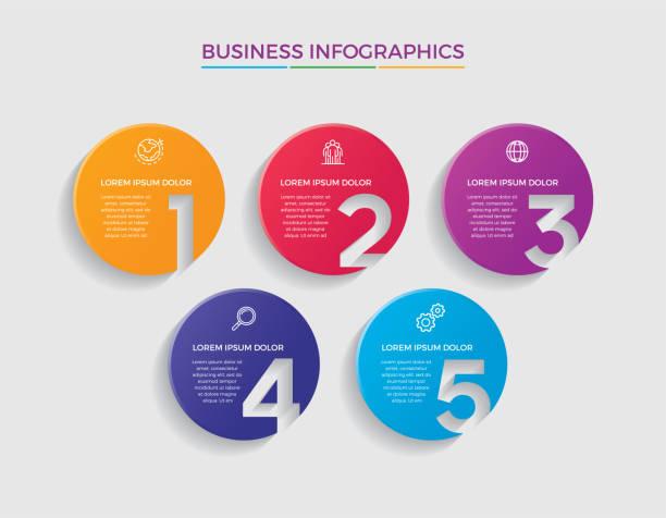 illustrazioni stock, clip art, cartoni animati e icone di tendenza di creative and minimalist infographic design - infografiche