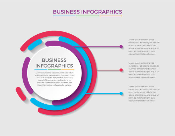 Creative and minimalist infographic design Infographic design vector and marketing icons can be used for workflow layout, diagram, annual report, web design.  Business concept with 3 options, steps or processes. - Vector machine part stock illustrations