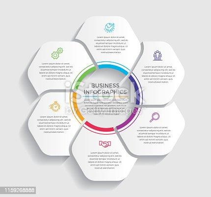 istock Creative and minimalist infographic design 1159268888