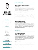 Creative and minimalistic personal vector resume / cv template.