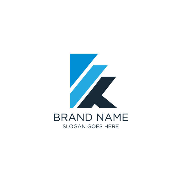 Creative and modern K letter logo design template vector eps for use business purpose For use business purpose k logo stock illustrations