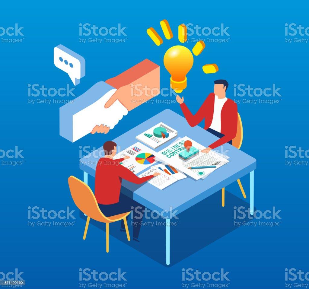 Créatif et transaction - Illustration vectorielle