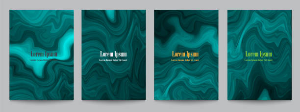 stockillustraties, clipart, cartoons en iconen met artistieke creatieve covers voor ontwerp - malachiet