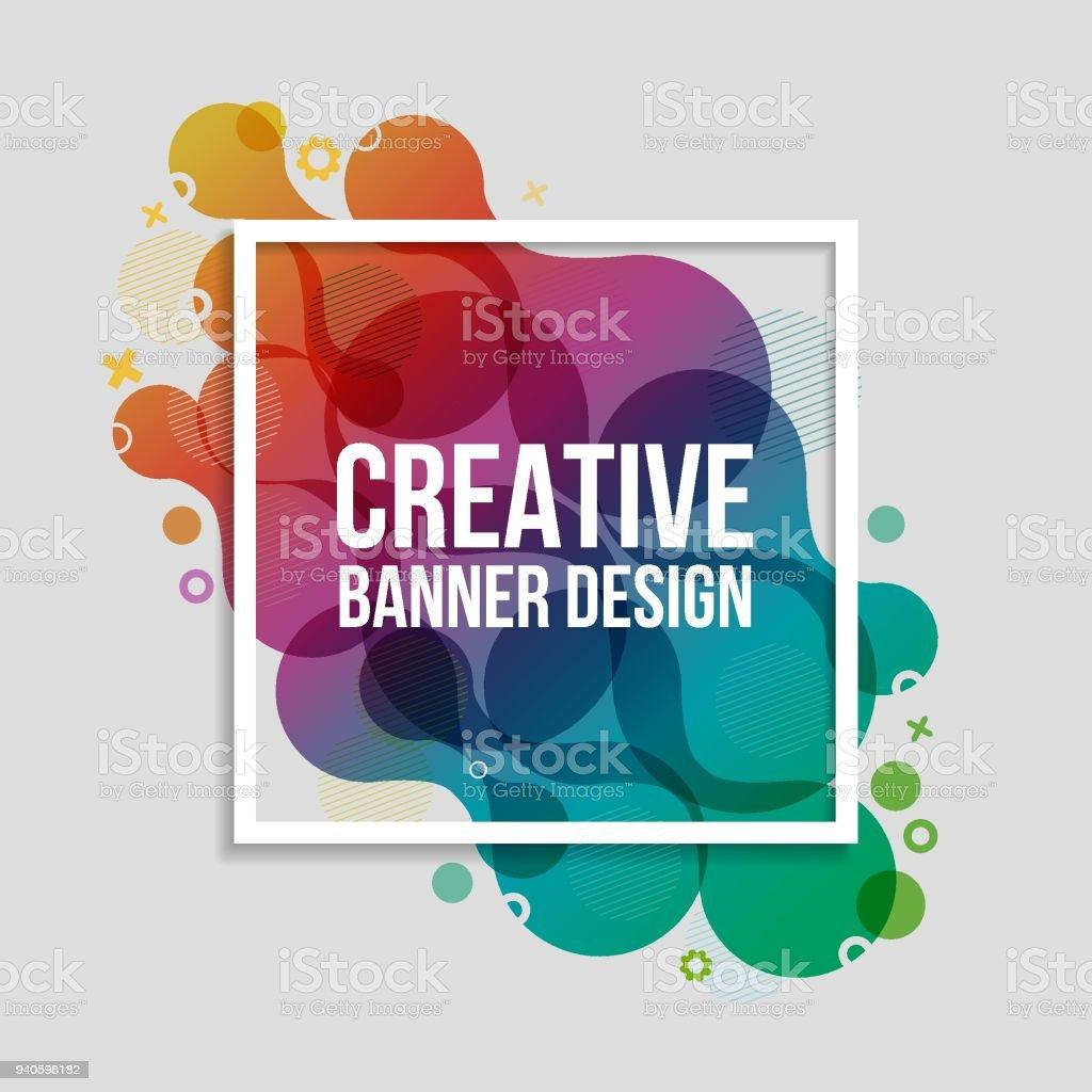 Creación Banners - ilustración de arte vectorial