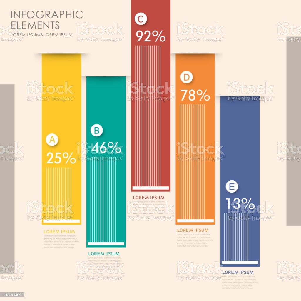 creative bar chart infographics royalty free stock vector art. Creative Bar Chart Infographics stock vector art 490129671   iStock