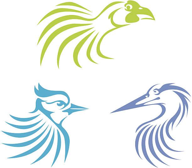 Creative Bird Illustrations vector art illustration