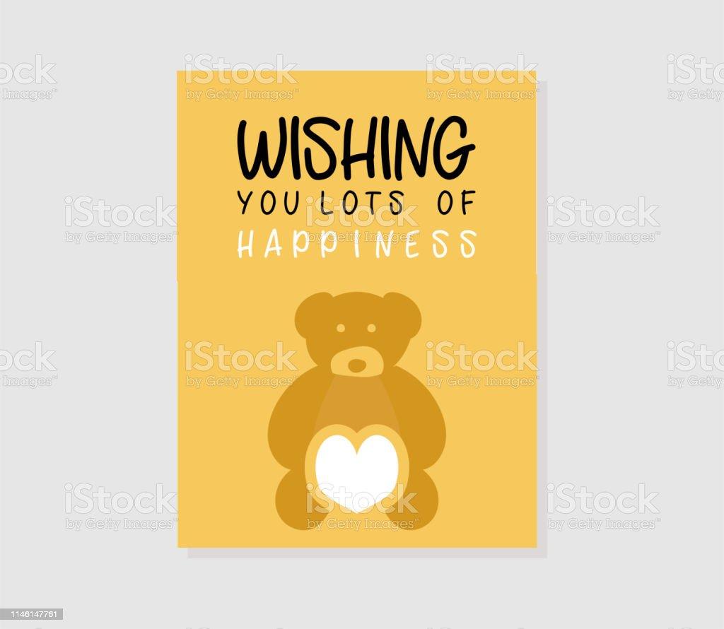 Creative Birthday Invitation Card Yellow Color Stock