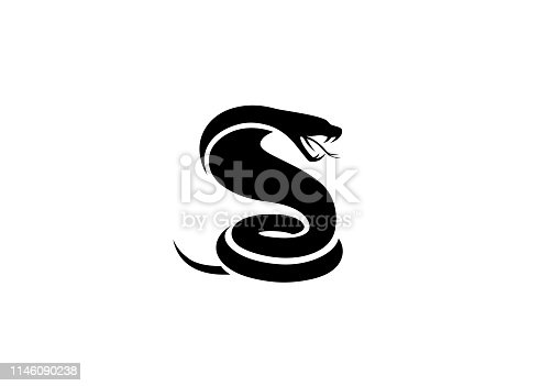 Creative Black Snake Logo