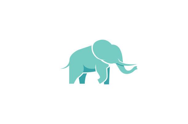 Creative Blue Elephant Logo Vector Creative Blue Elephant Logo Vector elephant stock illustrations