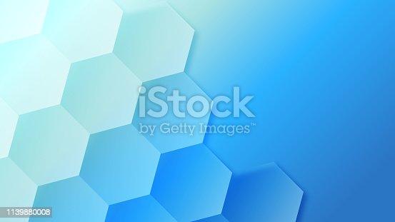 Creative blue hive pattern background