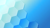 Creative blue hive pattern background