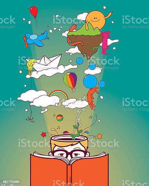 Creative boy reading and dreaming vector id481775490?b=1&k=6&m=481775490&s=612x612&h=29awvejpirliwjypx58dxbdzylfogskocjham83w68y=