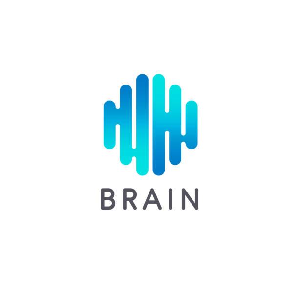Creative brain abstract vector  design template. Brain icon. Vector illustration Creative brain abstract vector  design template. Brain icon. Vector illustration neuroscience abstract stock illustrations