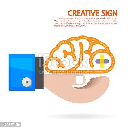 585087100 istock photo Creative brain and business idea concept 472367159