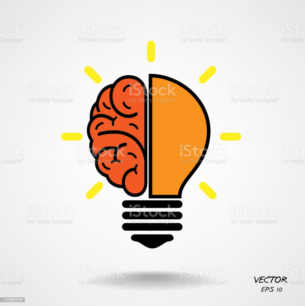Creative Brain Bulb Symbolbusiness And Education Concept Stock ... for Education Creative Poster Designs  545xkb