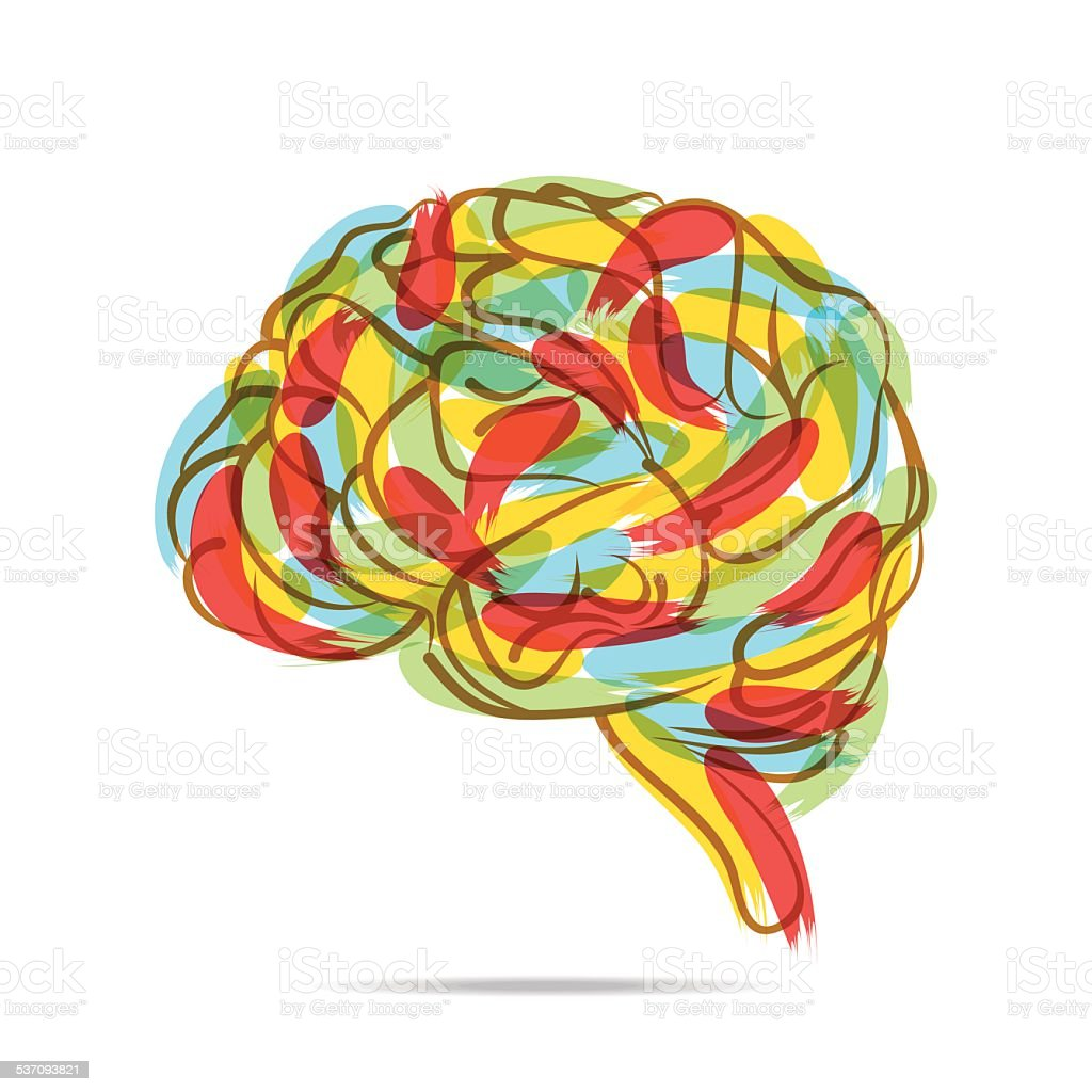Creative Brain Drawing Design Royalty Free Stock Vector Art Amp