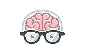 istock Creative Brain Geek Symbol Design 831741206