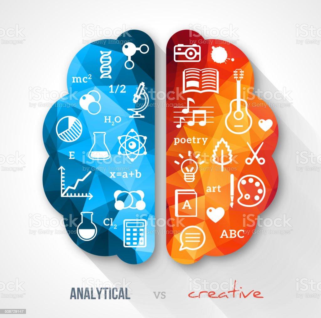Creative brain Idea. vector art illustration