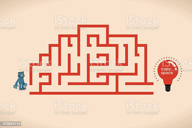 Creative brain shaped maze with lighting bulb businessman at entrance vector id470044114?b=1&k=6&m=470044114&s=612x612&h=mgvs09k 0ayoszl0 wvw18jkkb5cqwstv7 sobn oxe=