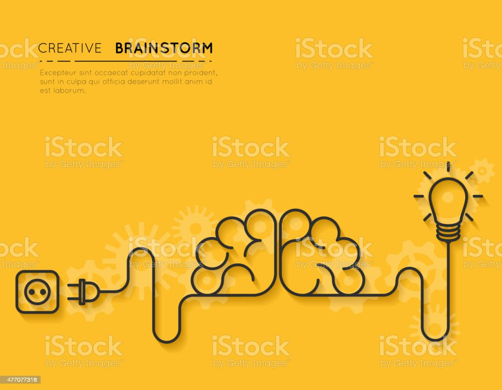 Creative brainstorm concept vector art illustration