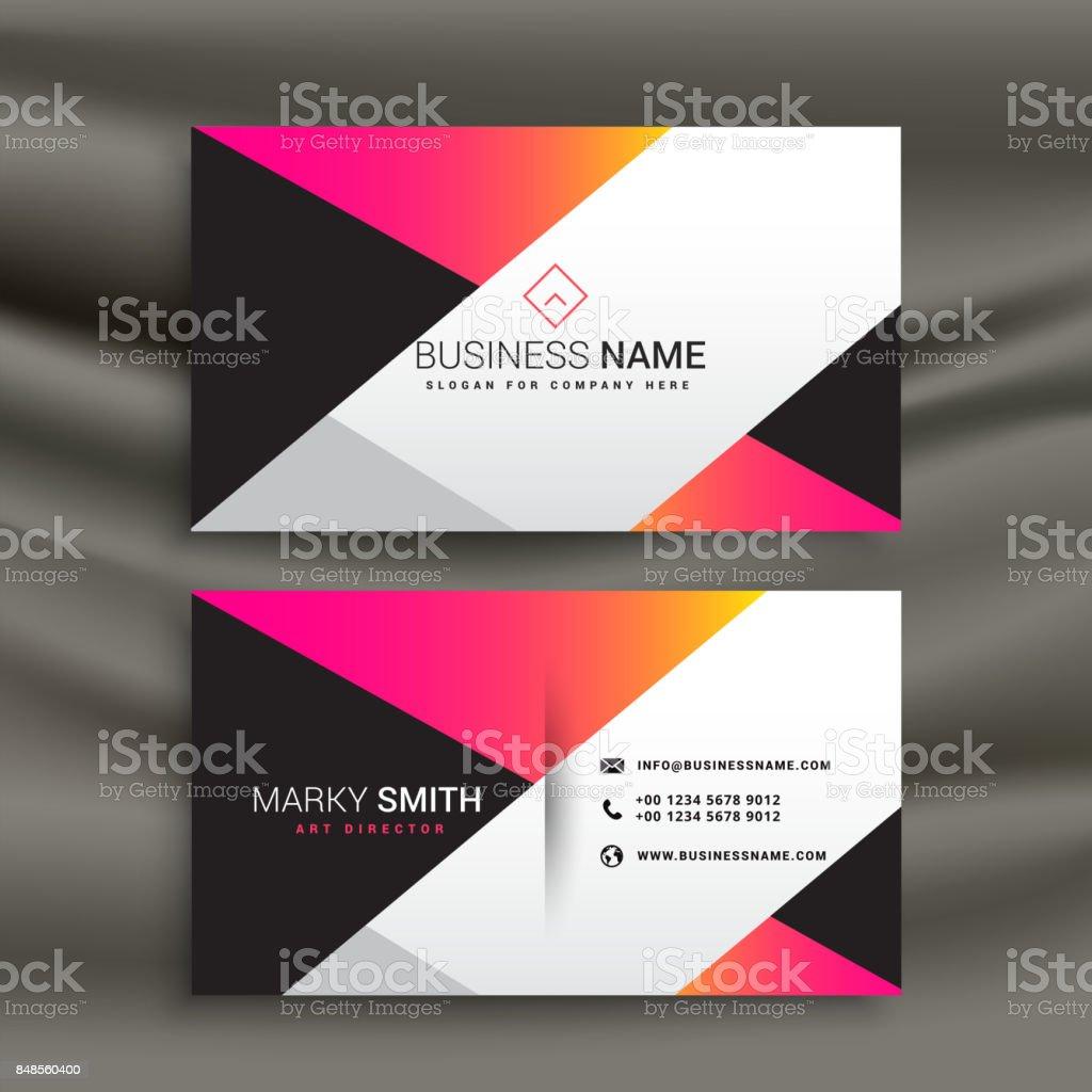 Kreative Helle Visitenkarte Designvorlage Stock Vektor Art Und Mehr Bilder Von Abstrakt