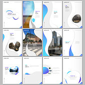Creative brochure templates with fluid colorful trendy gradients geometric shapes. Covers design templates for flyer, leaflet, brochure, report, presentation, advertising, magazine.