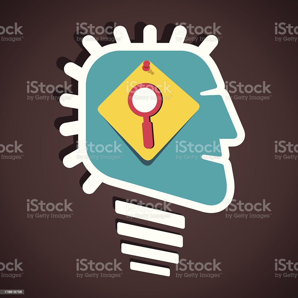 creative bulb face royalty-free creative bulb face stock vector art & more images of abstract