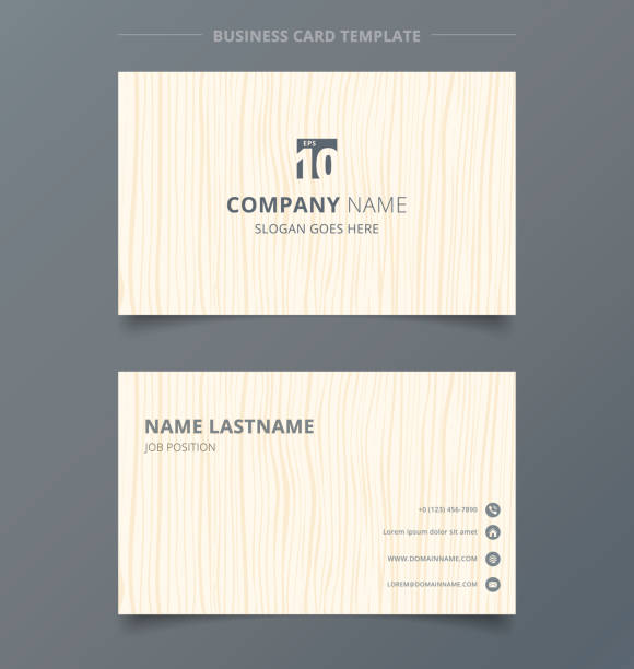 Royalty free luxury vertical business card clip art vector images creative business card and name card light brown wood pattern background template concept and commercial design reheart