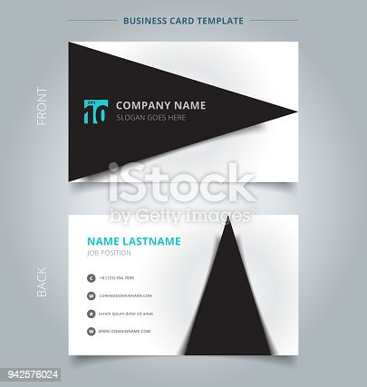 Creative Business Card And Name Card Template Black Triangle Graphic