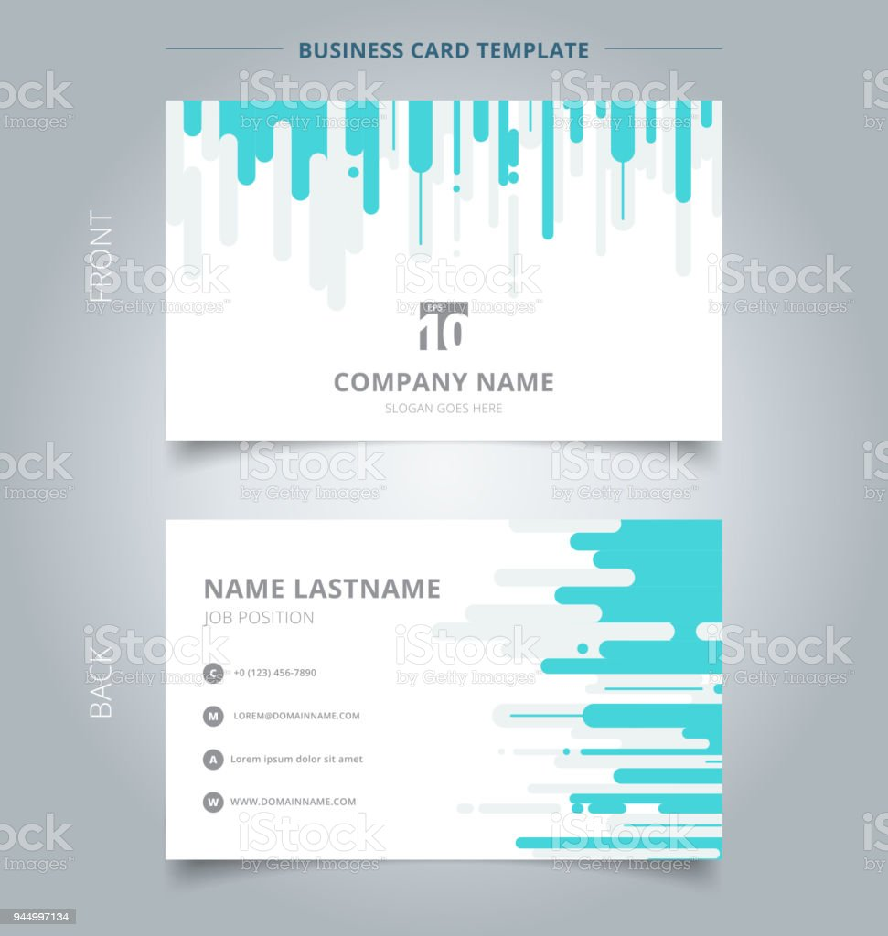 Creative business card and name card template blue and gray rounded creative business card and name card template blue and gray rounded lines vertical halftone transition background flashek Choice Image