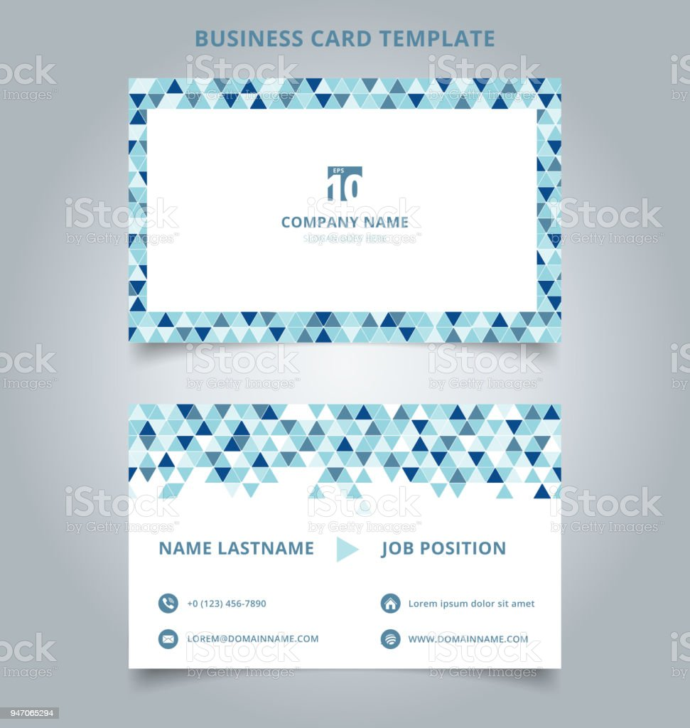 Creative Business Card And Name Card Template Blue Color Modern With ...