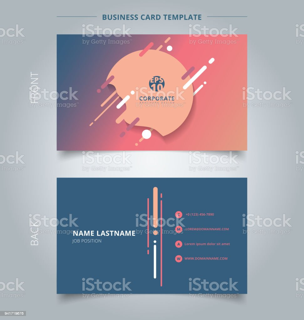 Creative business card and name card template geometric splash lines creative business card and name card template geometric splash lines and round in a flat wajeb Image collections