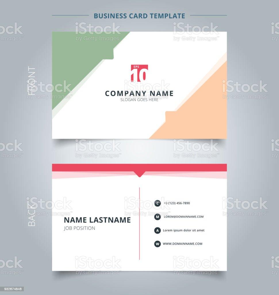 Carte De Visite Creative Et Nom Modele Geometriques Triangle Pastel Couleur Sur Fond Blanc