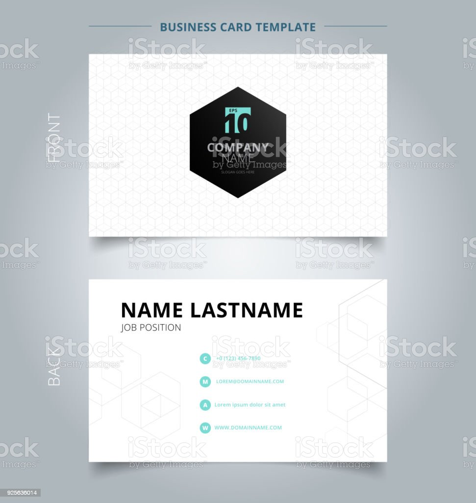 Creative business card and name card template geometric white gray creative business card and name card template geometric white gray hexagon pattern overlap background reheart Images