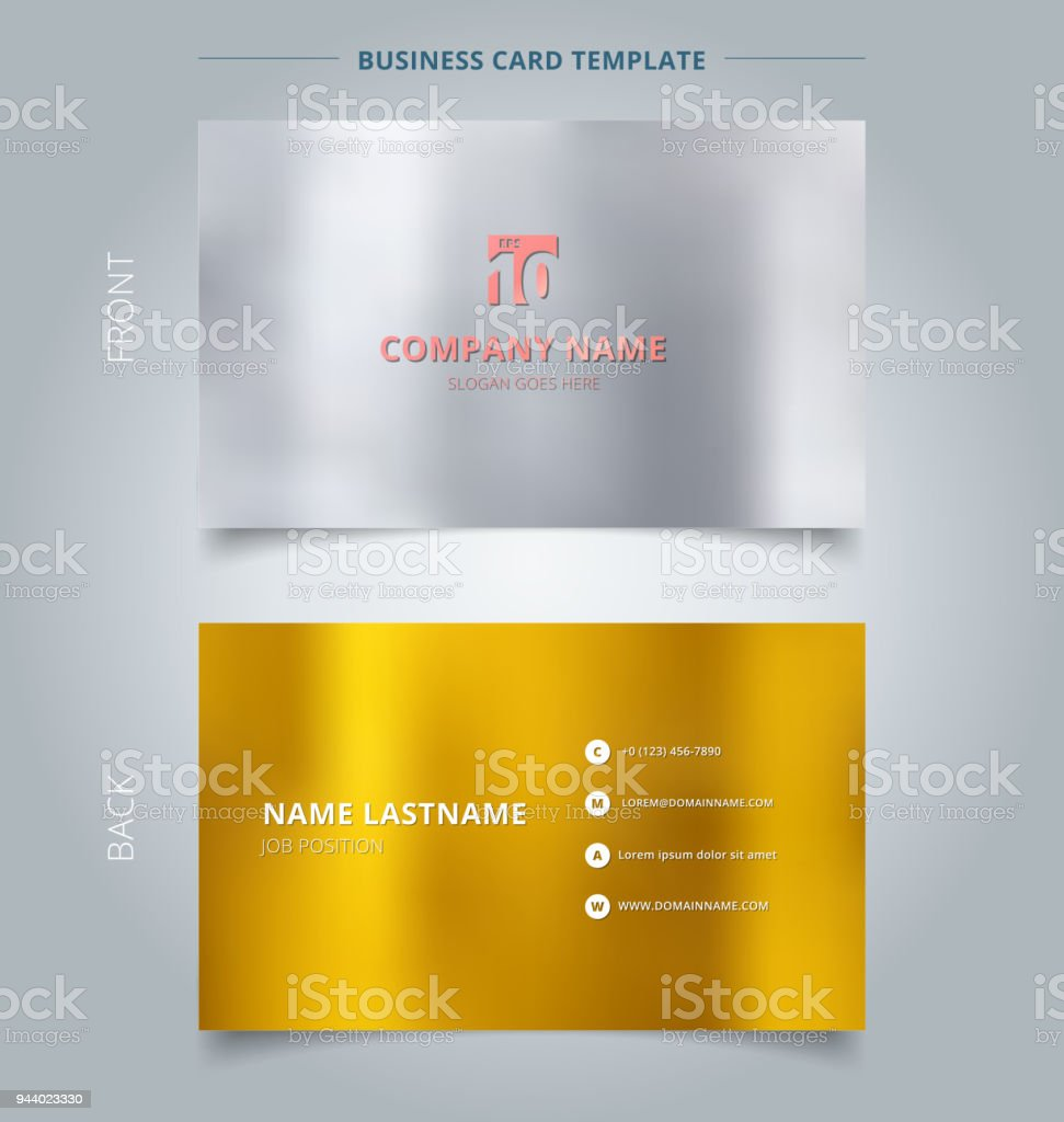 Creative Business Card And Name Card Template Silver And