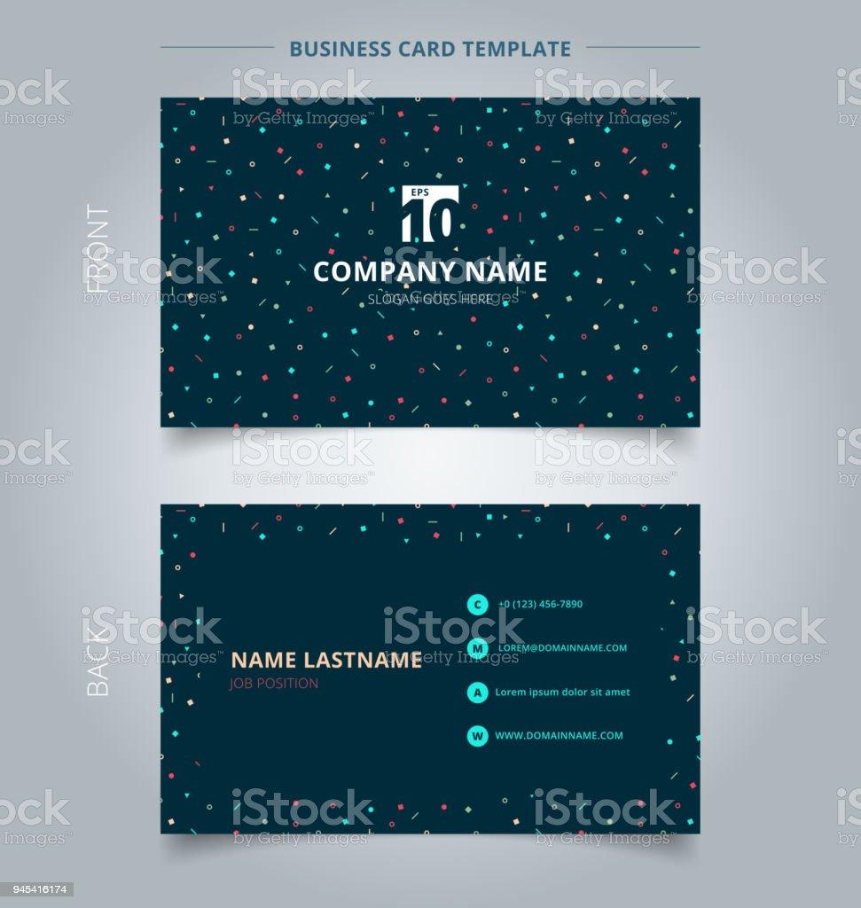 Kreative Visitenkarte Und Name Karte Vorlage Einfache Geometrische ...