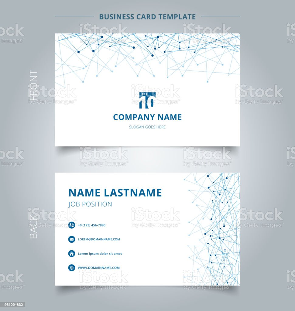 Carte De Visite Creative Et Technologie De Modele Nom Carte Bleue