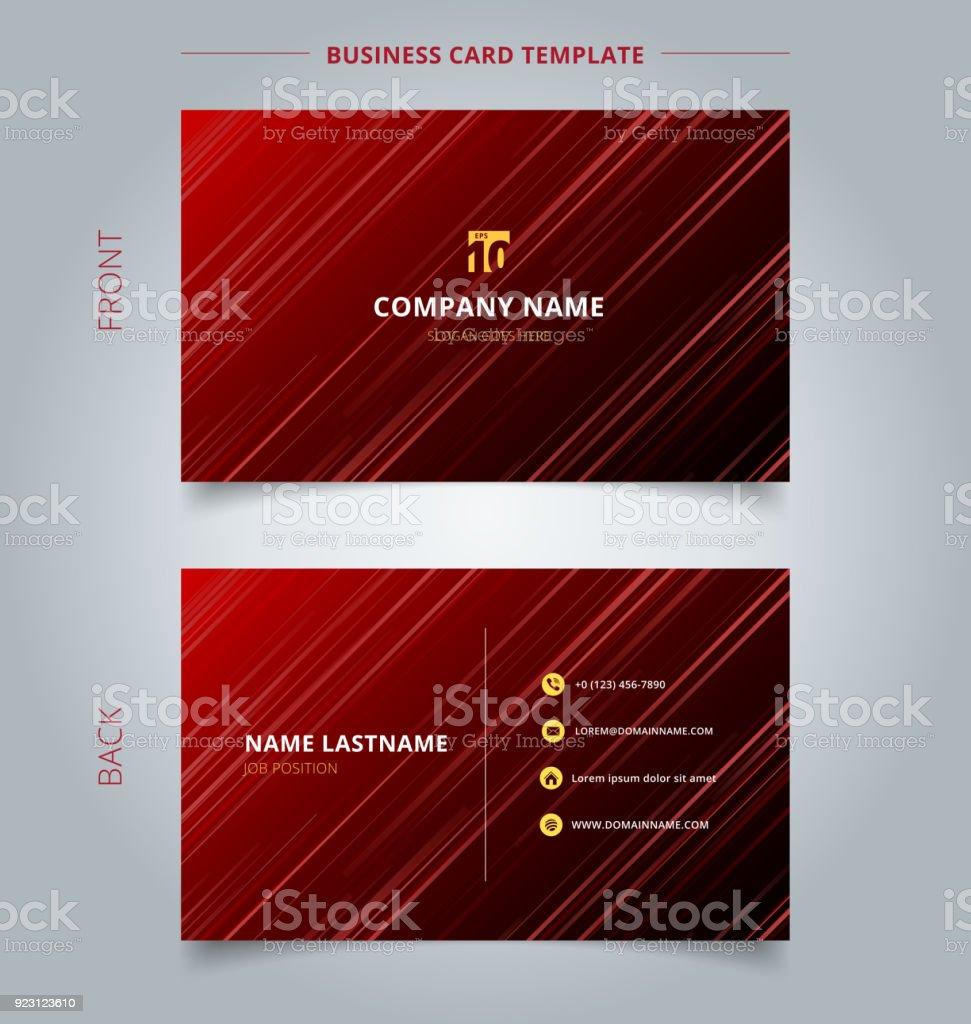 Carte De Visite Crative Et Technologie Modle Nom Rouge Laser Rayons Lumire