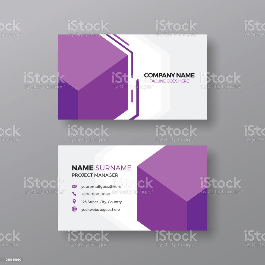Kreative Visitenkarte Designvorlage Stock Vektor Art Und