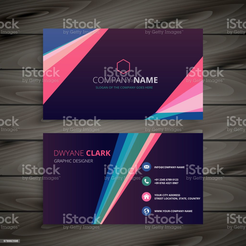 Creative business card design with abstract geometric shapes stock creative business card design with abstract geometric shapes royalty free creative business card design with colourmoves